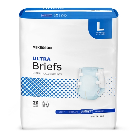 Unisex Adult Incontinence Brief McKesson Disposable Heavy Absorbency