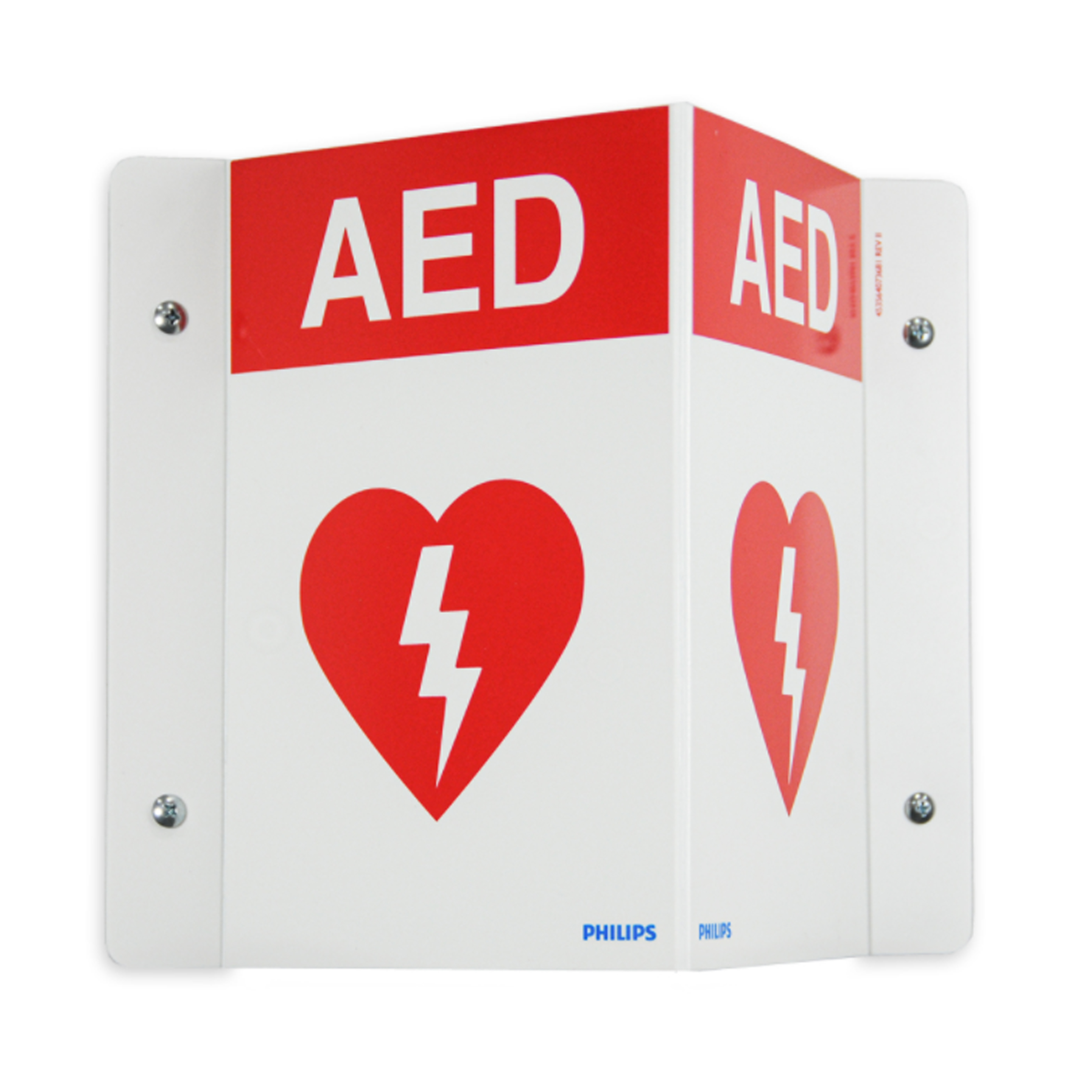 Philips AED Wall Sign - Red 989803170921 in Michigan USA