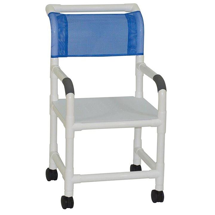 "MJM Wide shower chair 22"" - flatstock seat w/drain holes - 122-3TW-F"