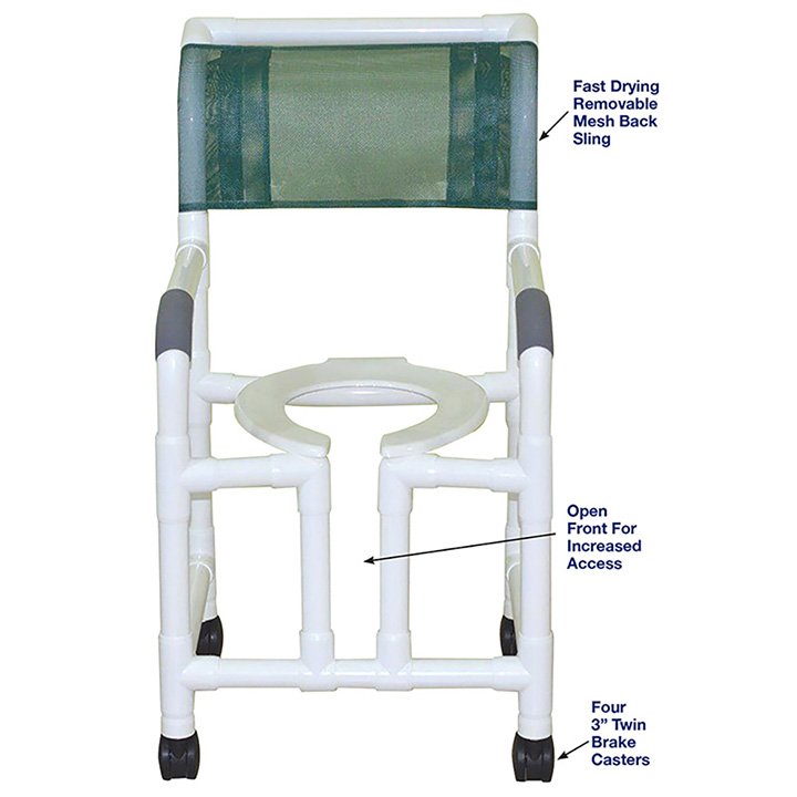 MJM SHOWER CHAIR WITH OPEN FRONT 118-3-OF in Michigan USA