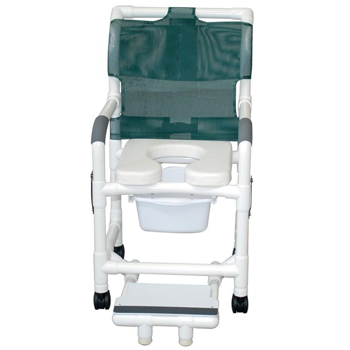MJM SHOWER CHAIR W/SOFT SEAT 118-3-SSDE-DDA-SFS-SQ-PAIL in Michigan USA
