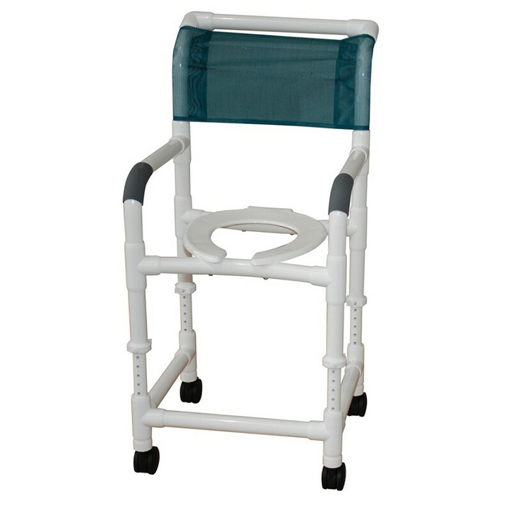"MJM Adjustable height shower chair 22"" Wide - 122-3TW-ADJ in Michigan USA"