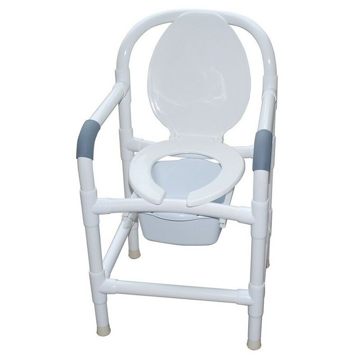 """MJM Bedside commode 22"""" with static legs & commode pail - 122-C10-QT"""