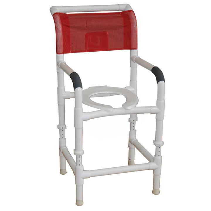 "MJM Adjustable height shower chair 22"" - open front seat - 122-LP-ADJ"