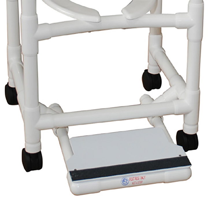 Sliding Footrest for MJM Shower Chairs in Michigan USA